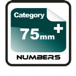 75mm+ Race Numbers